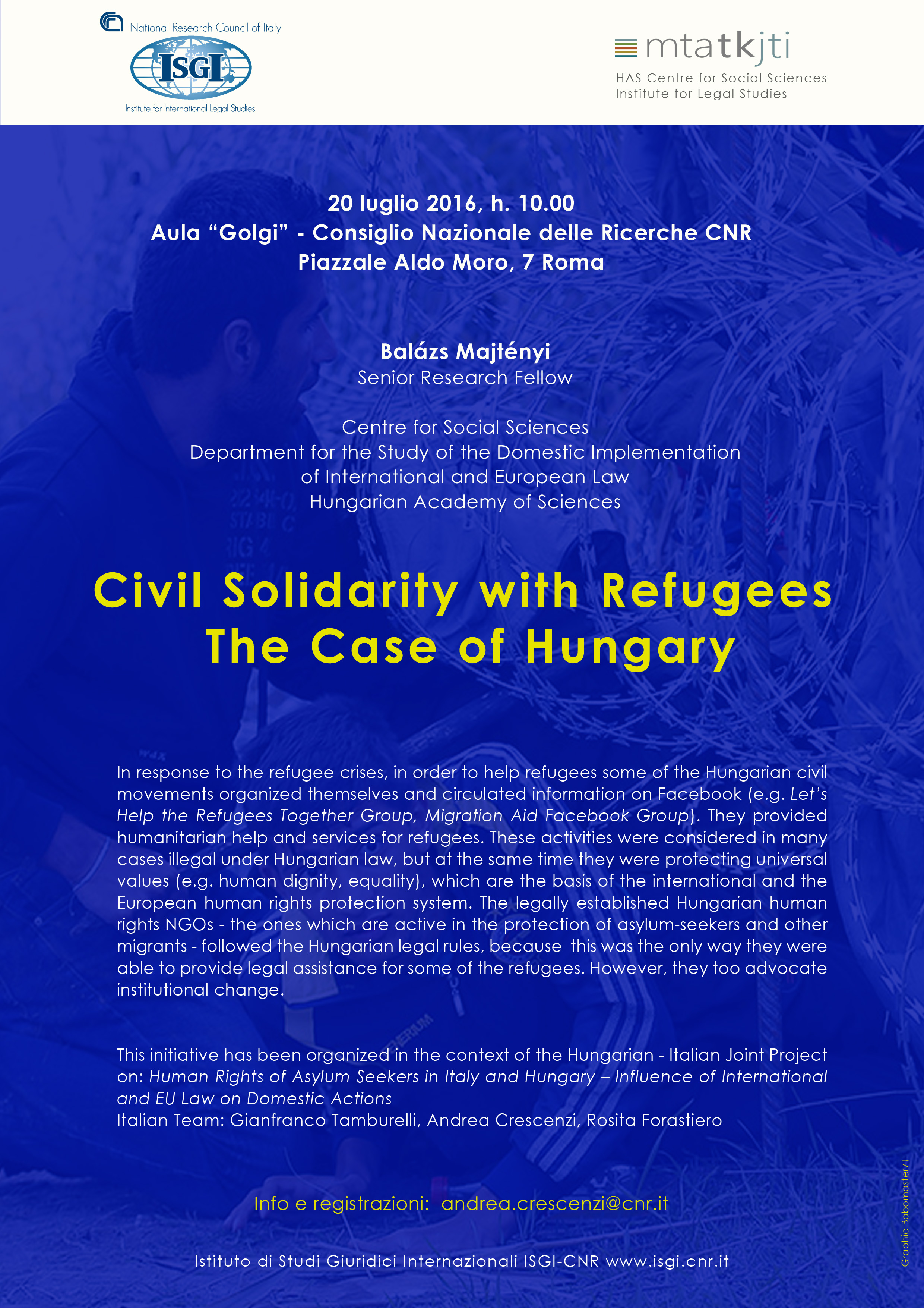 Civil Solidarity with Refugees. The Case of Hungary