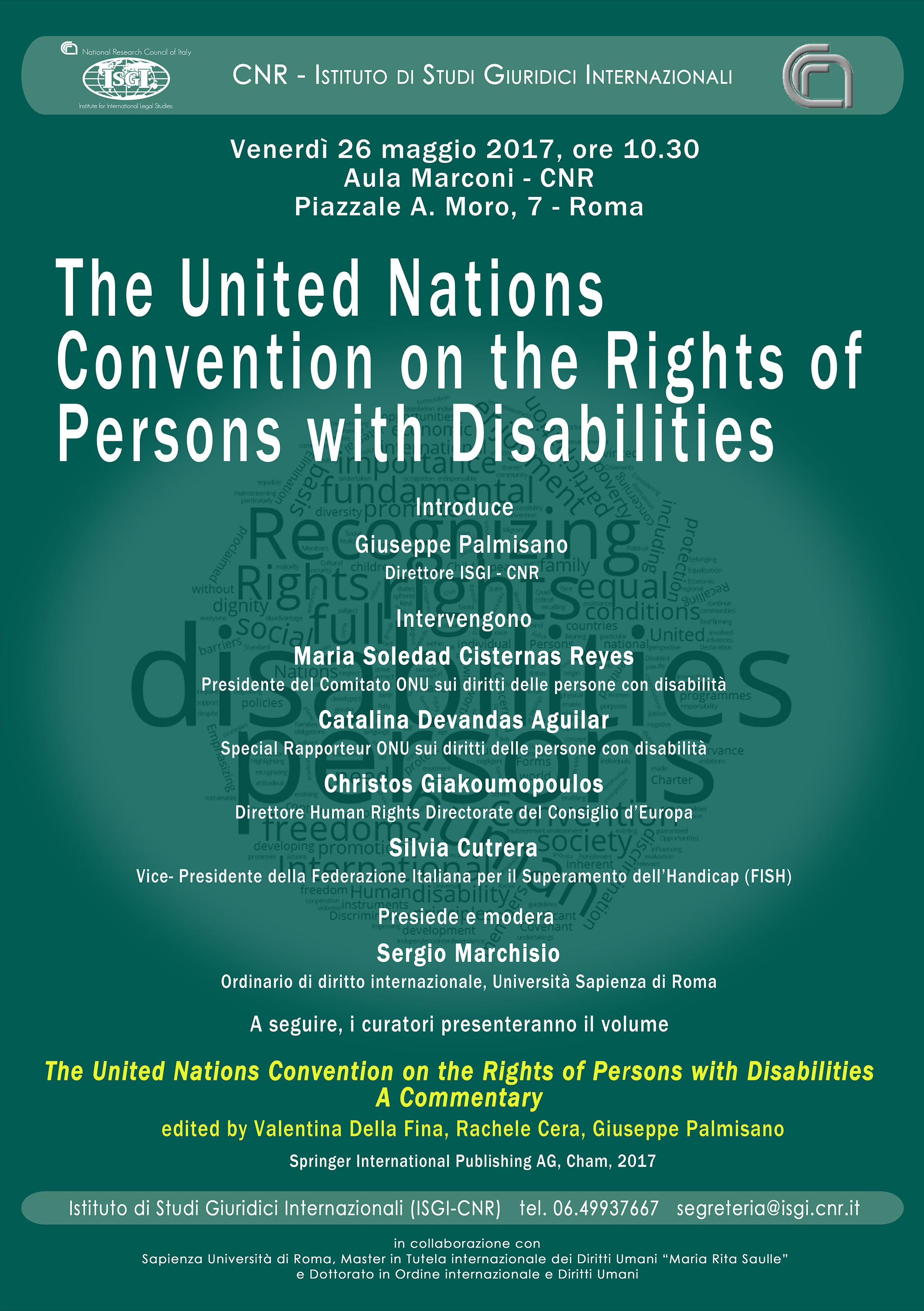 The United Nations Convention on the Rights of Persons with Disabilities 26 maggio 2017, Roma
