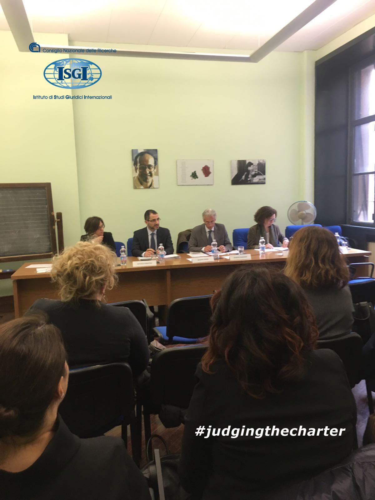 La Carta dei diritti fondamentali e la sua applicazione nell'ambito dell'asilo e della protezione internazionale 6.04.2018 Milano