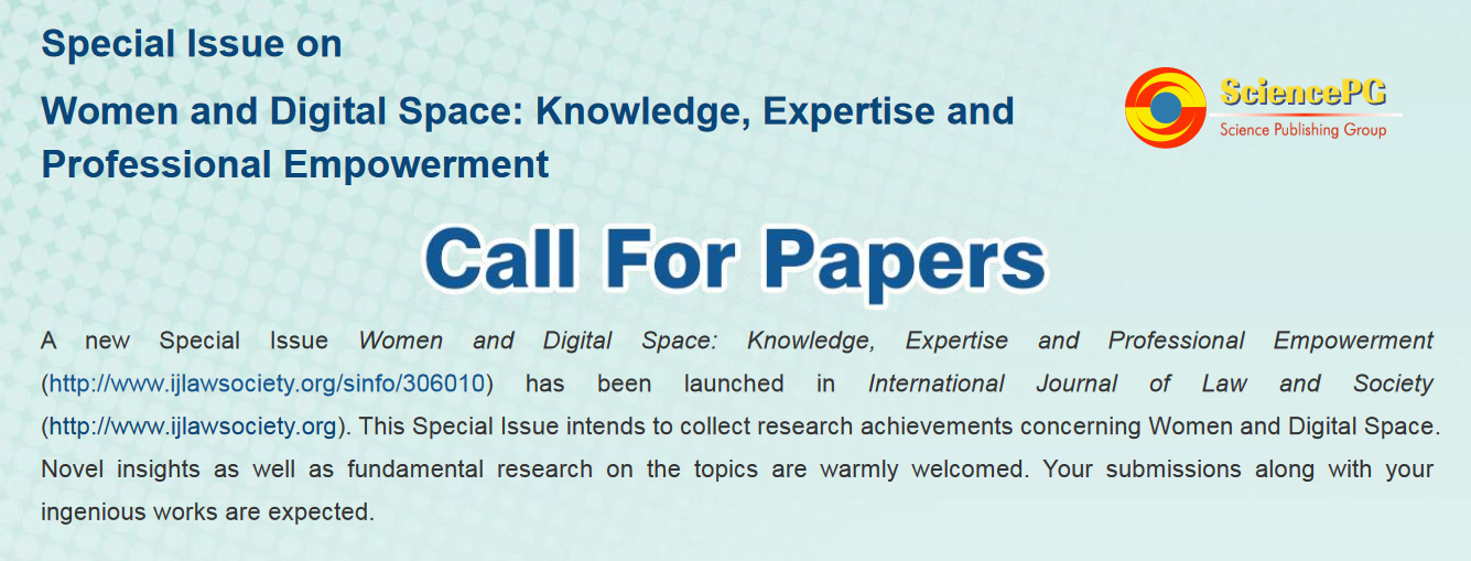 Special Issue on Women and Digital Space under IJLS: Call for Papers